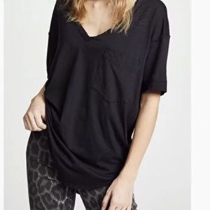 NWT We the Free People Ronnie S T-Shirt Black
